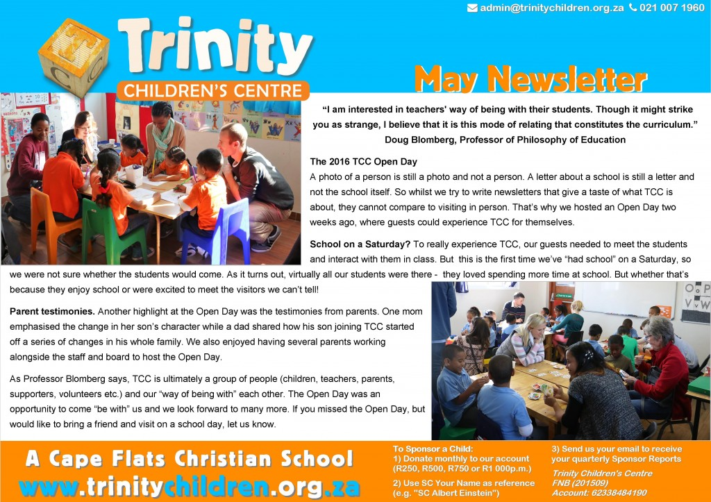 TCC Newsletter 2016-05